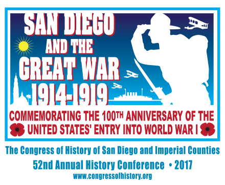 COH conference on the effects of World War 1 for San Diego March 3 and 4 2017