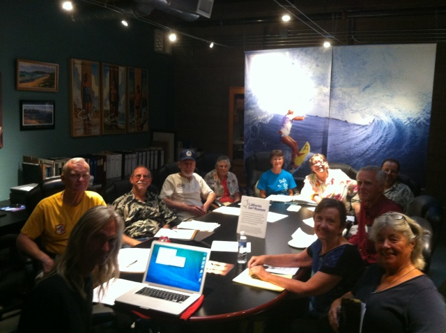 COH Board members at the California Surf Museum in Oceanside CA